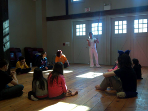 Capoeira Class and the Berimbaus instrument